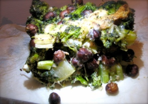Broccoli and hazelnuts cake