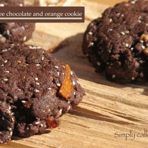 Gluten free chocolate and orange cookie