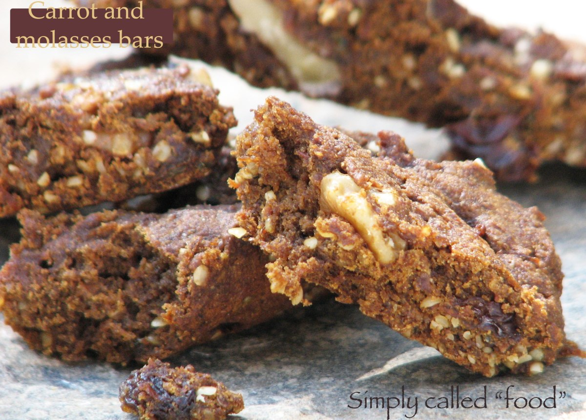 Carrot an molasses bars