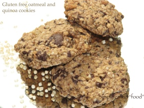 Gluten free oatmeal and quinoacookies