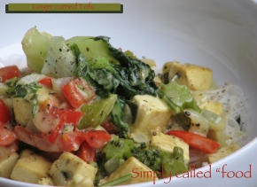 Ginger curried tofu