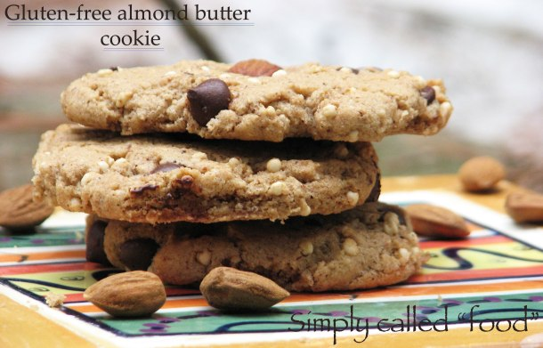 Gluten-free almond butter cookie
