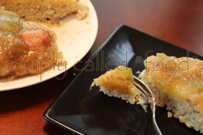 Gluten free rhubarb upside downcake