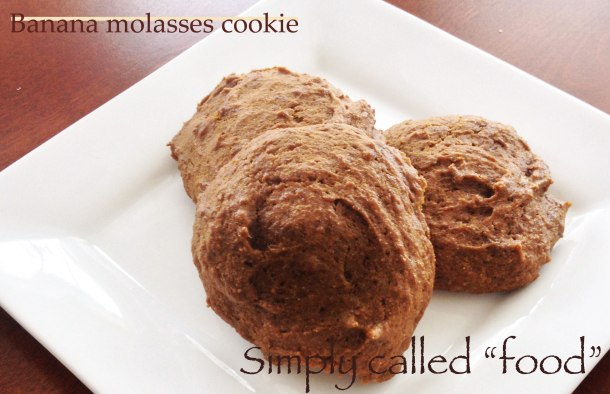 Banana molasses cookies