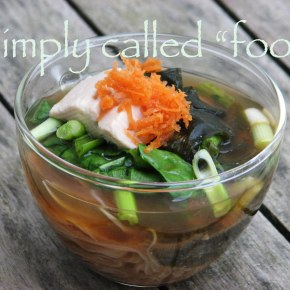 Soup of the week: Green tea Miso soup