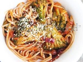 Spaghetti with Vegan Rosésauce