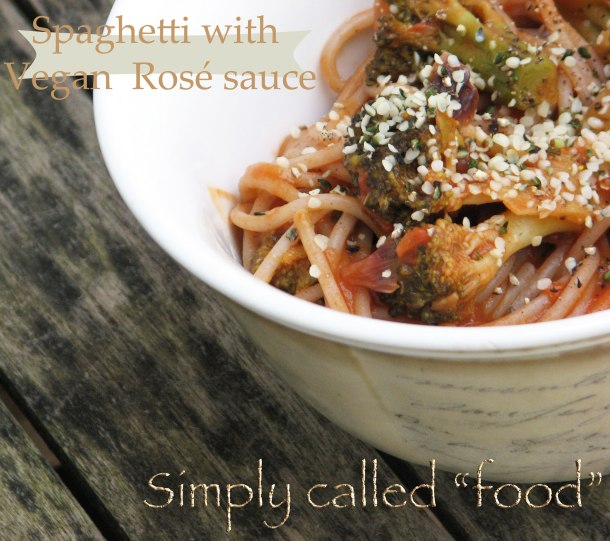 Spaghetti with vegan rosé sauce