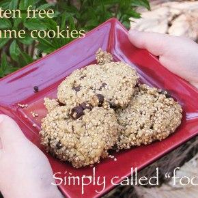 Gluten free sesamecookies