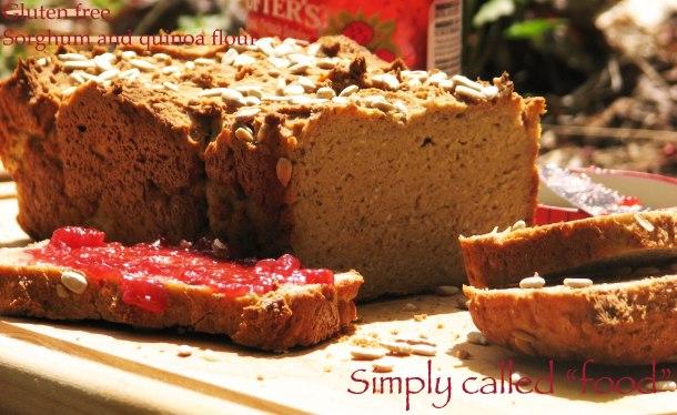 Quinoa and sorghum bread