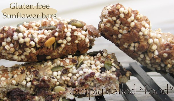 Gluten free sunflower bars