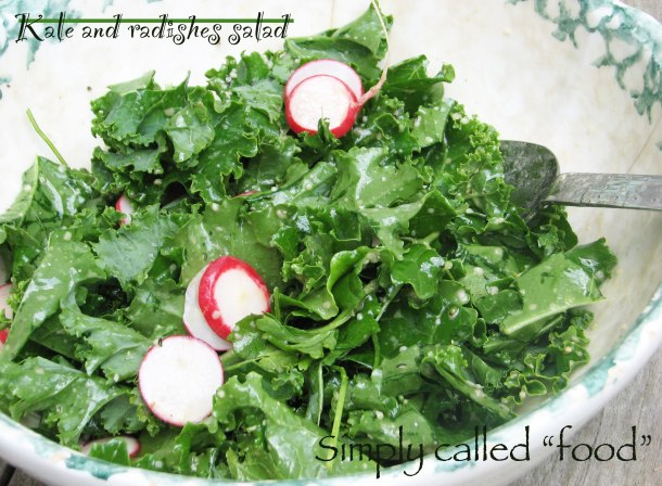 Kale and radishes salad