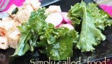 Kale and radishes salad