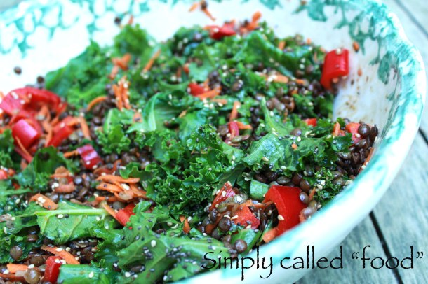 Du Puy lentil warm salad