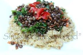 Du Puy lentils warmsalad