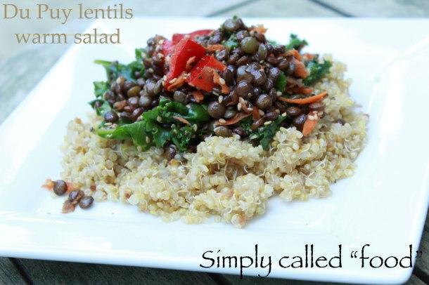 Du Puy lentils warm salad