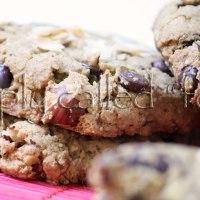 Gluten free rhubarb cookies
