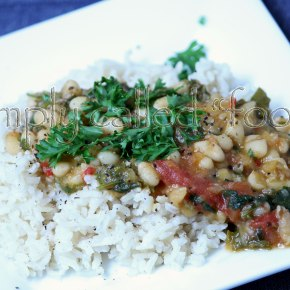 Onion and white bean ragout