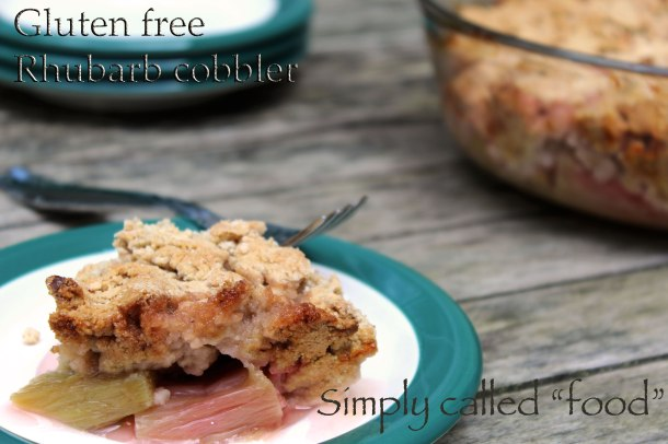 Gluten free rhubarb cobbler