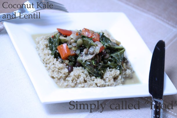 Coconut kale and lentil