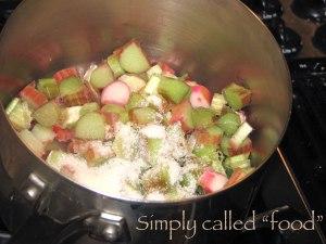 Rhubarb stew