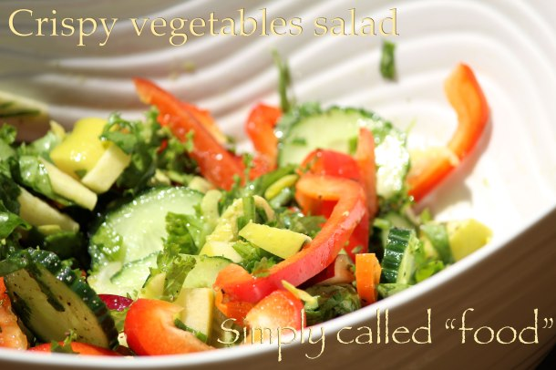 Crispy vegetables salad