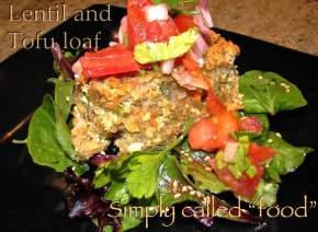 Lentil and tofuloaf