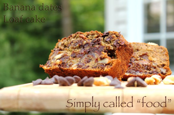 Banana dates loaf cake