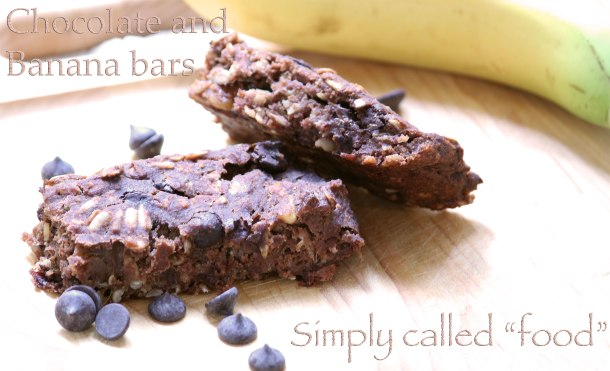 Chocolate and banana bars