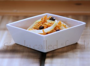 Carrot and onion salad