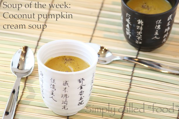 Coconut pumpkin cream soup