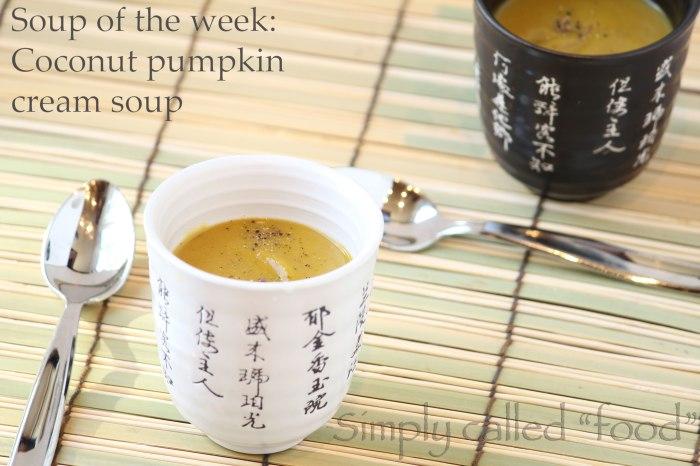 Coconut pumpkin cream soup