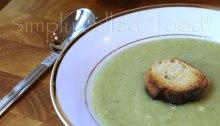 Cream of broccoli and cauliflower