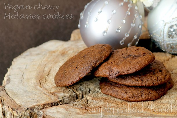 Vegan chewy molasses cookies