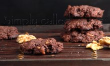 No-guilt double chocolate cookies