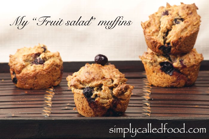 My fruit salad muffins