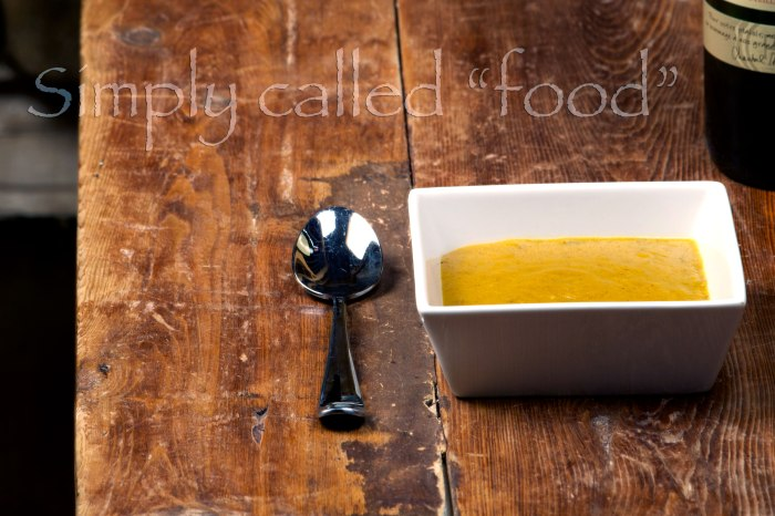 Carrot and parsnip curry soup