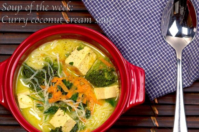 Curry coconut cream soup