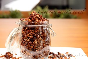 Chocolate granola cereal