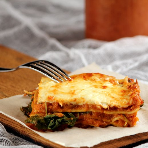 Kids friendly veggie lasagna