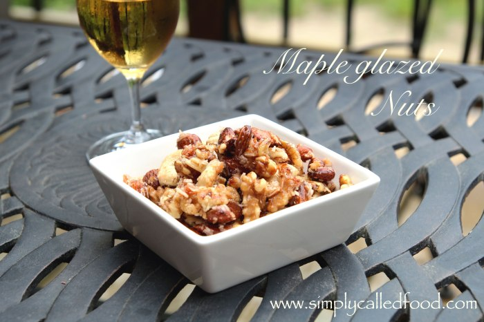 Maple glazed nuts
