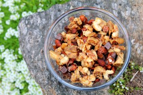 Trail mix with maple glazed nuts