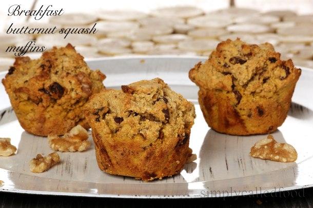 Breakfast butternut squash muffins