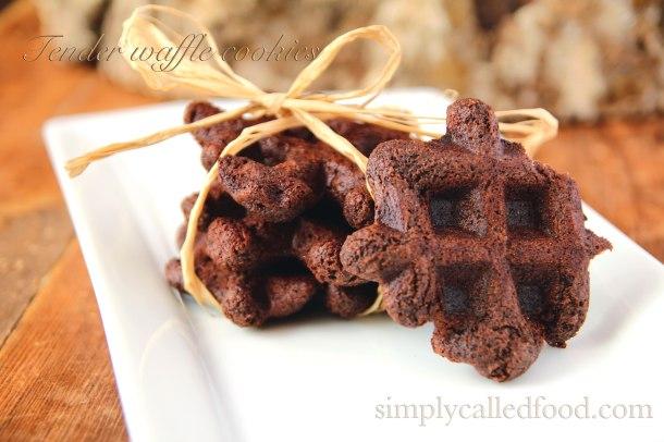 Tender waffle cookies