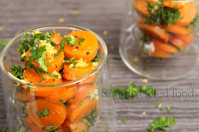 Tender carrot salad